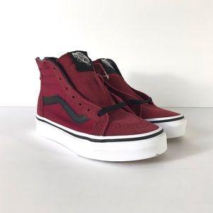 Vans Sk8-Hi Zip Tibetan Red Black Sneakers